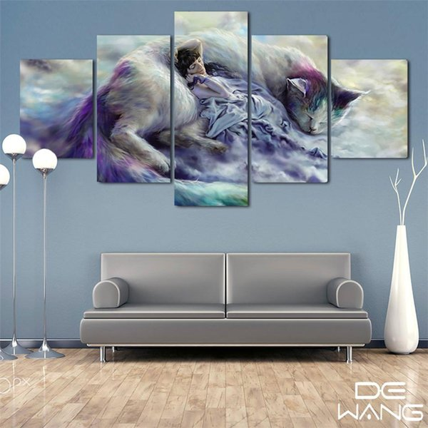 2019 Cat Nap Of Big Cat Fantasy Home Decor Hd Printed Modern Art Painting On Canvas Unframed Framed From Ajp123 19 1 Dhgate Com