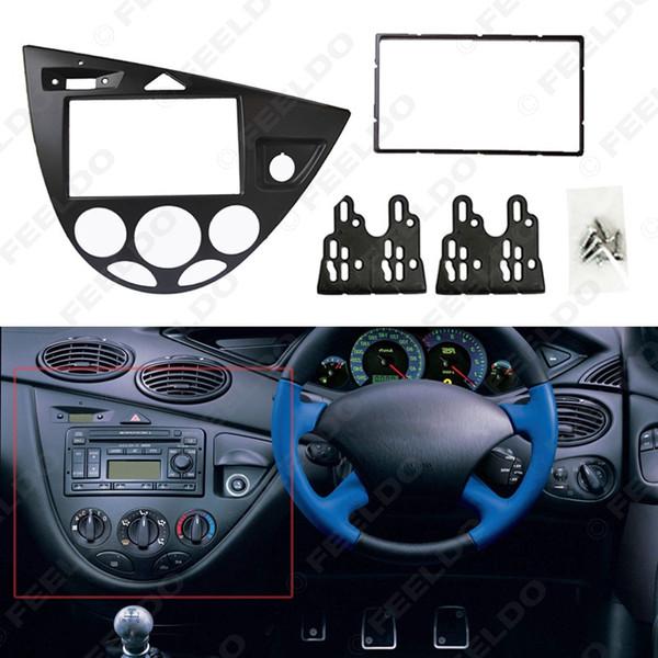 Black Car Stereo 2DIN pannello della fascia Radio Refitting Dash trim Kit per Ford Focus 98 ~ 04 (RHD) / Fiesta 95 ~ 01 (RHD) # 2219