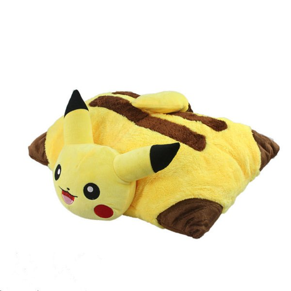 Kawaii Pikachu Plush Toys 40cm Pikachu Plush Pillow Sleep Cushion Soft Stuffed Animal Doll Kids Toys Birthday Gift Y190530