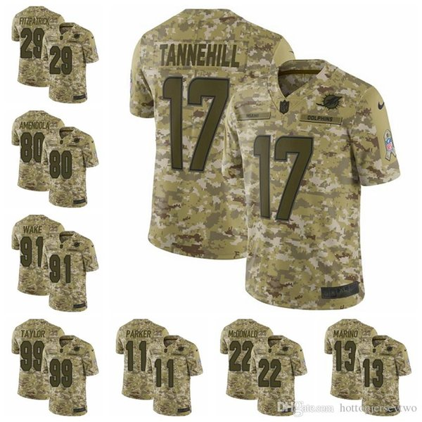 new style e3de1 f850d 2019 Miami Camo Dolphins Limited Football Jersey 2018 Salute To Service 29  Minkah Fitzpatrick 13 Dan Marino 80 Danny Amendola UK 2019 From ...