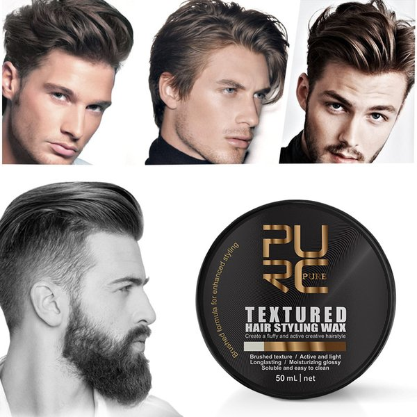 top popular PURC Men's Powerful PURC Hairstyle Wax, Fixed Hairstyle, Matte Finish, Beaded, Brushed Cream, Muddy Style 2021
