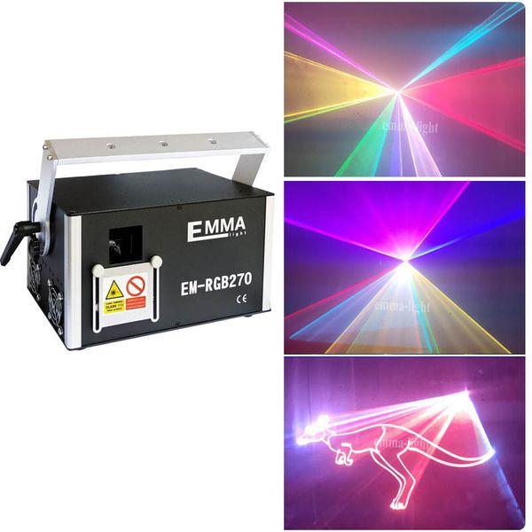 5 Watt RGB 3D Laserlicht Show 5000 MW RGB Laser Projektor mit 3D Effekt für DJ Weihnachten, DJ Party Light 40K