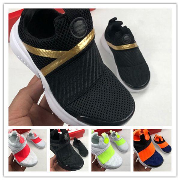 2019 tasarımcı çocuklar Koşu Ayakkabıları Presto Çocuk erkek kız Prestos sarı siyah altın Açık toddler Koşu Eğitmenler Spor Sneakers