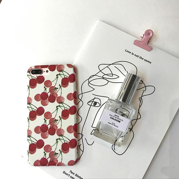 Korean fresh small cherry for apple X mobile phone case iphone 7 plus 6s 8 lovely fruit girl