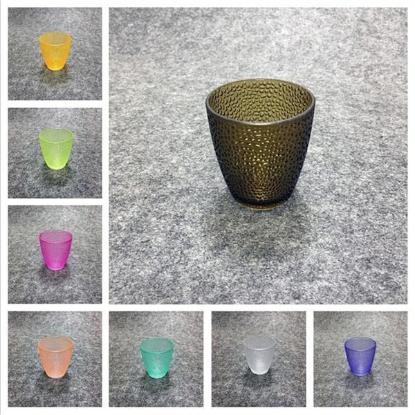Isıya dayanıklı 8 yeni tip küçük çay bardaklarından plastik içecek cam yüksek sıcaklık ve düşmeye dayanıklı restoran suyu bardağı T3I5180