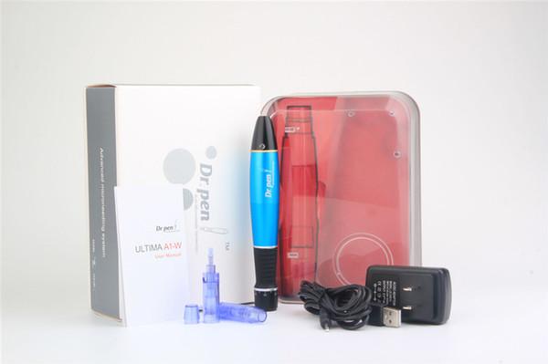 Nouveau Dr. Pen ultima A1-W rechargeable sans fil Derma Pen système automatique Microneedle système derma tampon électrique derma rouleau cartouche d'aiguille