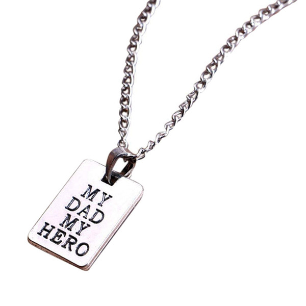 Father's Day Gifts My Dad My Hero Pendant Necklace for Father Daddy