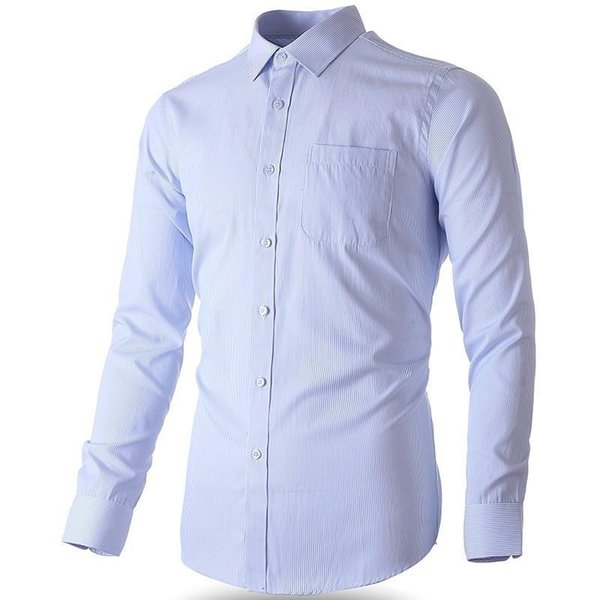 2019 New Plus Large Size Men Dress Shirts Long Sleeve Slim Fit Stripe / Plaid Casual Social Male Formal Shirt 5XL 6XL 7XL 8XL