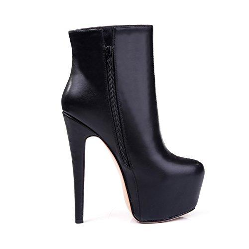 2019 ZK shoes womens ankle stiletto high heel boots water-resistance platform from 4~12.5 US size 545474