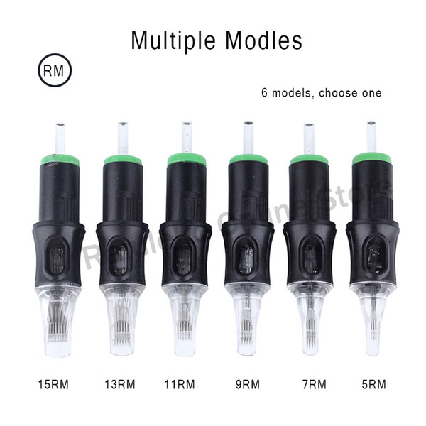 top popular Disposable Semi-Permanent Makeup Tattoo Needles Cartridge for Tattoo Gun Body Art Supplies 5RM 7RM 9RM 11RM 13RM 15RM 2020