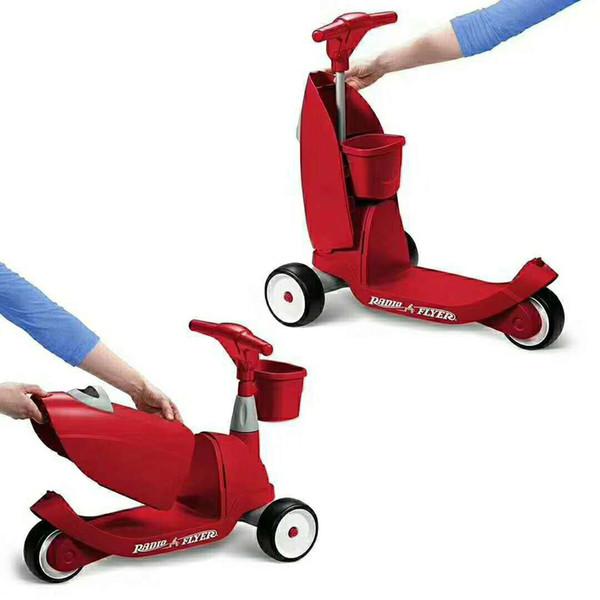 Leichtes Roller-Kleinkindreitspielzeugbabybalancenfahrradwanderer kickboard Skateboard 3 Wheeler-Geschenkspielzeug der Kinder zwei in einem