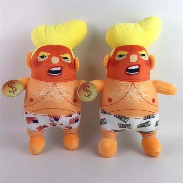 Hot Donald Trump Engraçado Boneca Modelo de Brinquedo De Pelúcia Mesa Ornamentos Engraçado Adorável Brinquedo Trunfo Boneca De Pelúcia altura 27 cm 4863