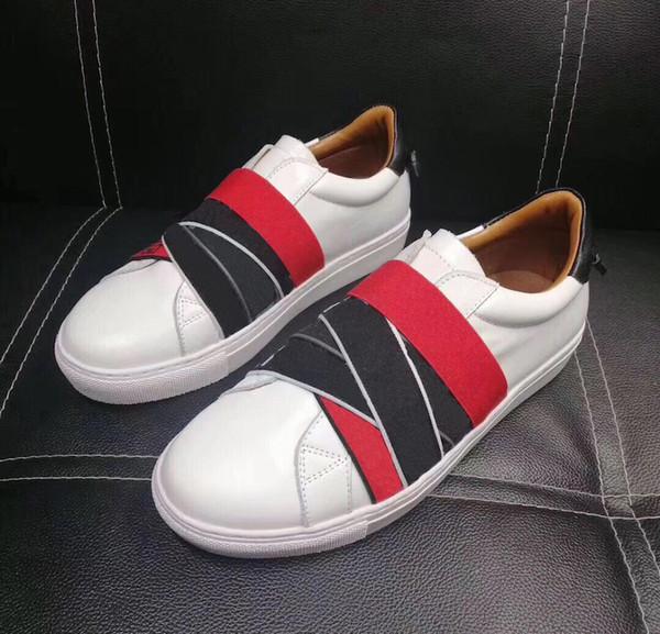 Мужская Дизайнерская Обувь кожаные кроссовки Резинки 4G Узлы-кроссовки кроссовки