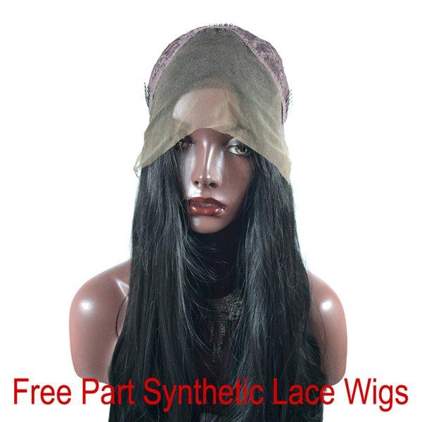 Perruques en dentelle synthétiques avec parties libres