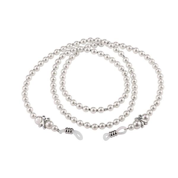 Women Handmade sunglasses chain Imitation Pearl Eyewears cordon gafas Glass Beaded Eyeglass Lanyards Cord Holder Glasses Ropes