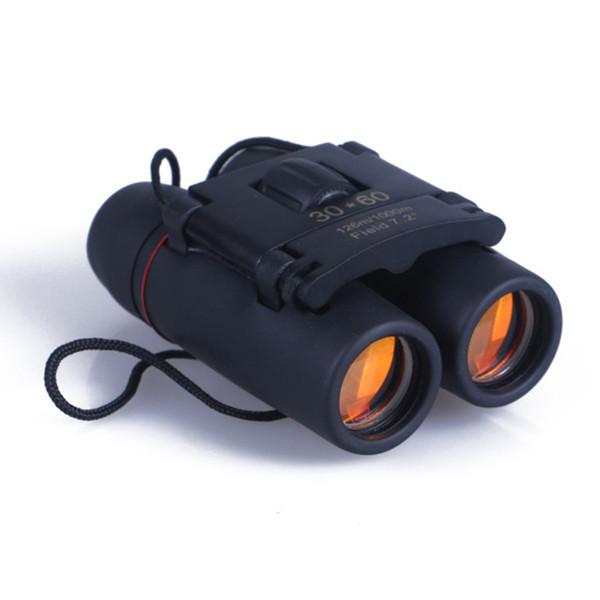 Ferramentas ao ar livre Viagem Óptica 30x60 Dia Dobrável Binóculos de Visão Noturna Telescópio + Saco Frete grátis!