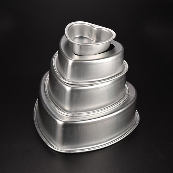 akeware Tools 3/5/6/8 inch Fixed Bottom Base Cake Molds Heart Shape Aluminum Cake Pan Muffin Cupcake Mold Tins Baking Tool Kitchen Bakew...