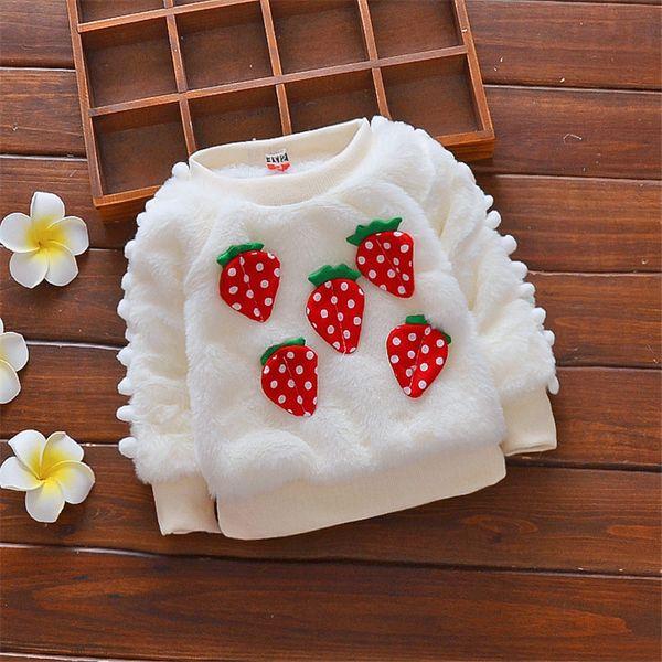 good quality baby girls sweater winter cartoon plus velvet outerwear for infant children clothing newborn baby fashion sweater