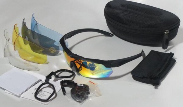 EN YENI 3 lens veya 5 lens gözlük Spor ABD askeri taktik gözlük taktik balistik çekim gözlük açık havada Güneş Gözlüğü