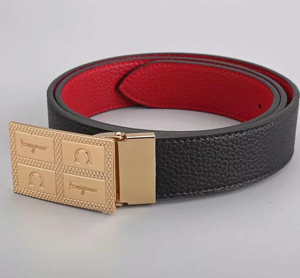 2018 newest Belt Men and Women Fashion Belts Genuine Leather letter Belt Brand Waist Belts Gold Silver Black buckle