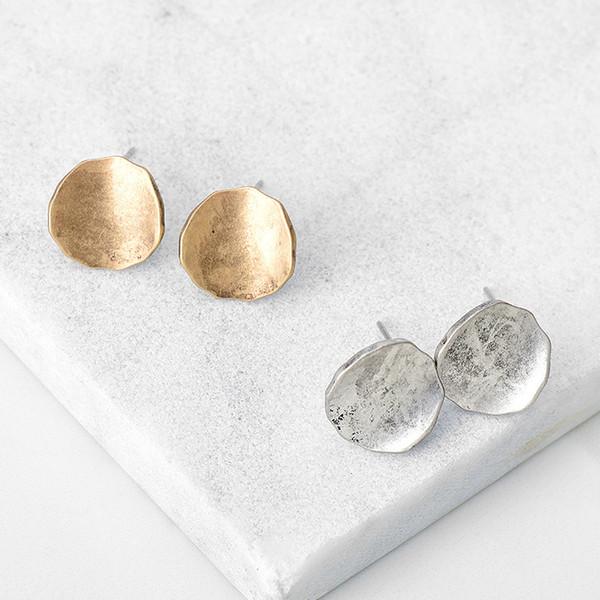 Semplici orecchini di moda resistenti, orecchini di lega retrò geometria creativa in Europa e all'ingrosso di chiodi tremella