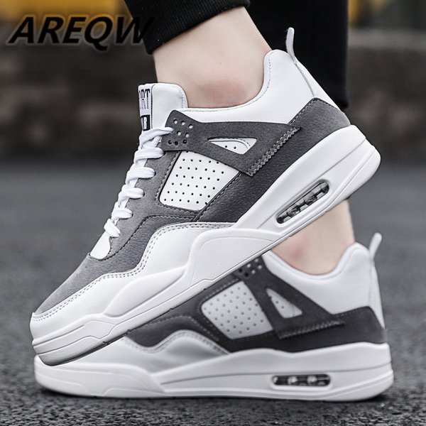 2019 Black and White Color Matching Men's Flat Casual Shoes Fashion Low To Help Air Sports Men's Shoes