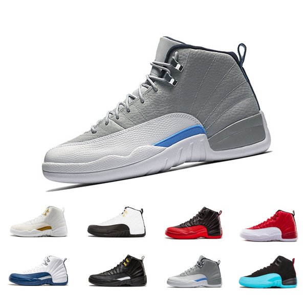 12 Gym Red 12s College Navy men basketball shoes Michigan WINGS bulls UNC Flu Game the master black white taxi Sports trainer sneakers