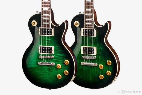 best selling Lvybest Custom Shop Slash Anaconda Burst Green Burst Electric Guitar slash signed Dark Brown Back