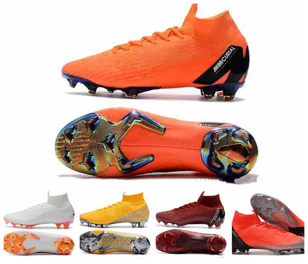 2019 Mercurial Superfly VI Zapatos de fútbol 360 Elite FG KJ 6 XII 12 CR7 SE Ronaldo Neymar Hombres Mujeres Niños Outdor Botas de fútbol Botines
