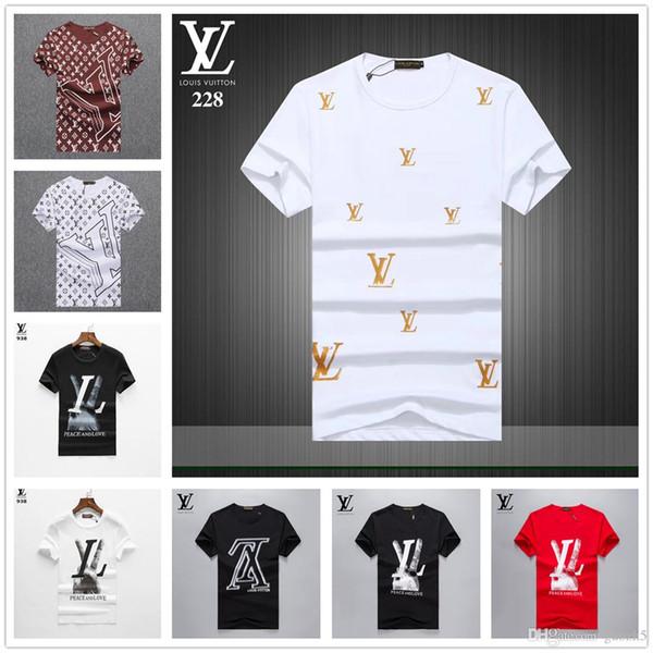 0741f6d397f0 19ss New Men s T-Shirt Luxury Premium Brand Cotton Round Neck Fashion  Casual Short-