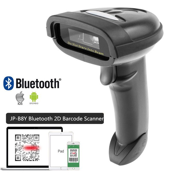 JEPOD JP-B2Y/B3Y/B8Y Bluetooth 1D/2D QR Bar Code Reader PDF417 Handheld Wirelress Portable Bluetooth Barcode Scanner for Mobile Phone