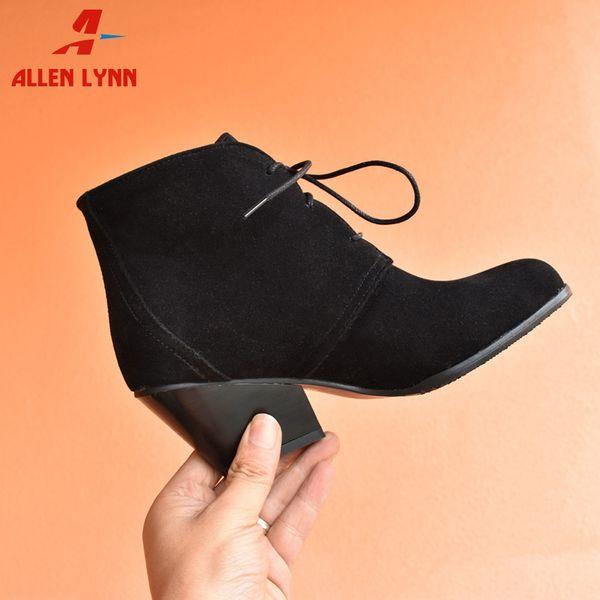 Botines de estilo británico para mujer Botas con cordones Zapatos de mujer con tacones cuadrados Mujer Tallas grandes 34-48