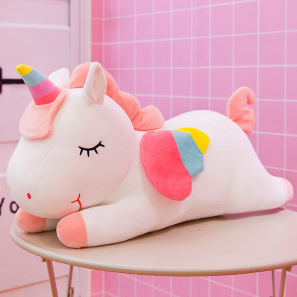 best selling 40cm Cute pink Cotton Rope Unicorn plush toy stuffed animal Toy Cuddly Plush pillow Doll Soft Cute Toy For Children gift Birthday present