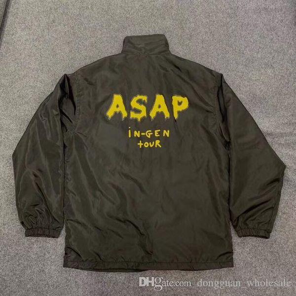 Асап куртка Rocky оскорбленные поколения Мужчины Женщины 1a: 1 Высокое качество Трэвис Скотт AstroWorld ASAP Rocky оскорбленные поколения Jacket