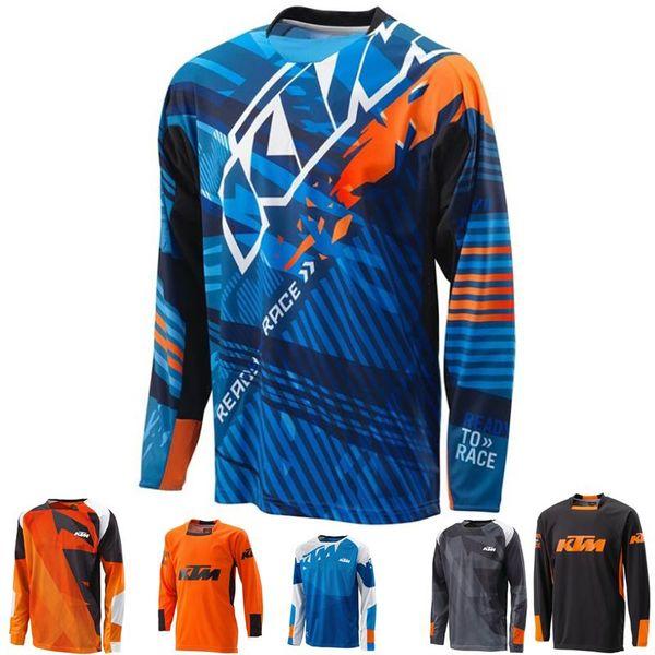 Brand-KTM MOTO GP Спорт Велосипед Велоспорт горные трикотажные изделия 2017 Новое поступление для команды по верховой езде на мотоцикле езда MTB Джерси Quick Dry