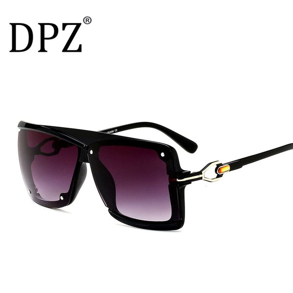 2019 DPZ Marca uomo occhiali da sole Donne retrò piazza Alta qualità steampunk UV400 occhiali protettivi marchi di lusso con scatola regalo