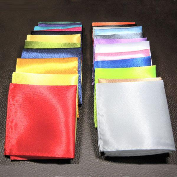 Costume de poche foulard homme robe de soirée de mariage foulard à la poitrine foulard pur noir rouge bleu vert jaune violet petite écharpe