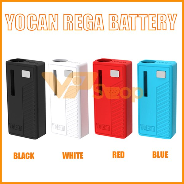 Authentic Yocan Rega Battery Vape Mods 320mAh Preheat VV Box Mod With Side Window Super Portable E Cigarette Battery 100% Original