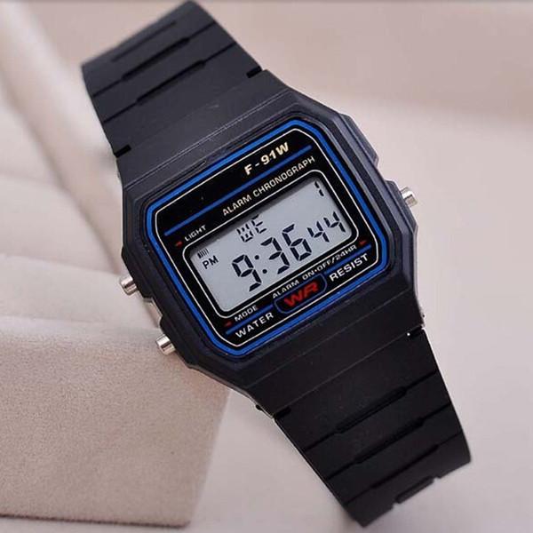 Hot Silicone Led Relógio Despertador Relógio de Luxo Das Mulheres Dos Homens Das Crianças Relógios Esportivos de Luxo Fino Multicor LED Jelly Relógios De Pulso Presentes