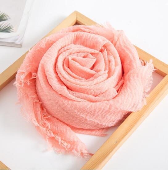 Otoño 2019 Moda Nueva bufanda de seda de algodón puro para las mujeres cien mantones y cuello suave
