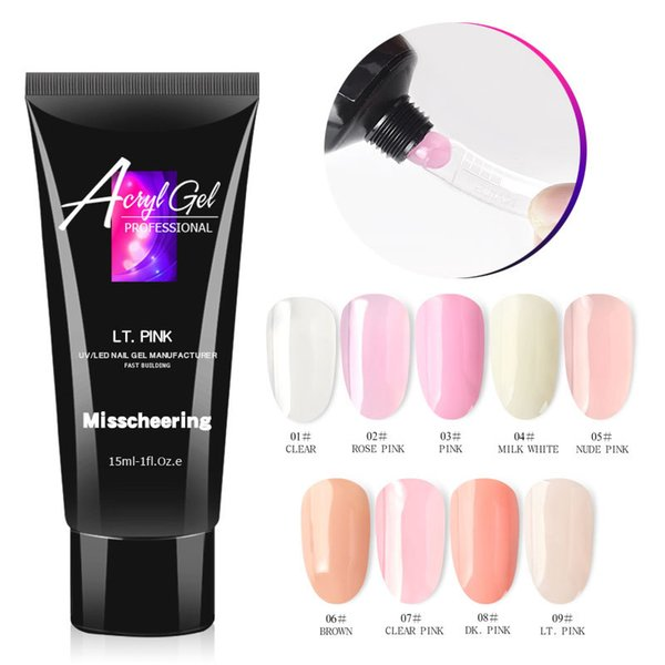 15ml Crystal Extend UV Nail Gel Extension Builder Led polyGel Nail Art Gel Lacquer Jelly Acrylic Builder UV Nail Poly Gel