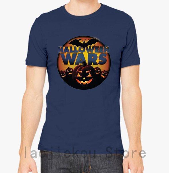 Cadılar Bayramı Savaşları Tişörtlü erkekler kadınlara tshirt tee% 100 pamuk komik baskı O yaka Kısa Kollu tshirt başında