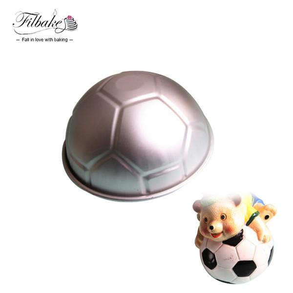 FILBAKE 1 STÜCKE 3D Halbrunde Ballförmige Fußball Backform 8 '' Verdickung Aluminiumlegierung Form Geburtstag Backform