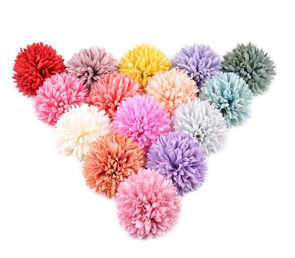 Flor de hortensia simulación 6 cm cabeza de flor de seda banquete de boda decoración del hogar DIY guirnalda libro de recuerdos artesanía flor falsa