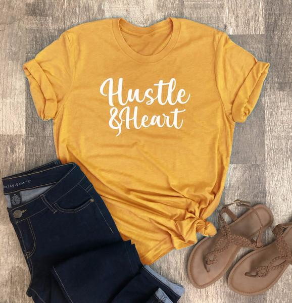 Acheter Hustle Heart Shirt Cute Womens T Shirt Des Années 90 Jeunes Femmes Mode Rue Style Mère Maman Citation Vintage Esthétique Tees Tops De 35 48
