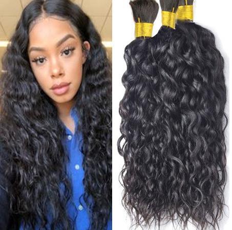 Massa mongol cabelo natural de onda em massa para 16-28 Inch Em trança de cabelo humano extensões não transformados cabelo Stock