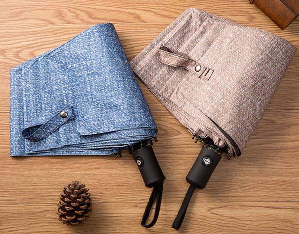 4 color de negocios Totalmente automático Recubrimiento negro Lluvia transparente de doble uso Sombrilla sombrilla Paraguas estilo simple para adultos