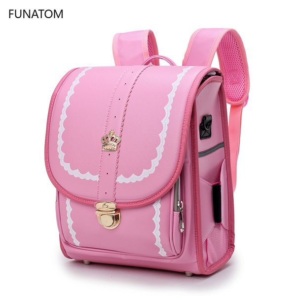 اليابانية راندوسيرو الأطفال حقيبة مدرسية للأطفال حقائب بو الصلبة النسر A4 حقائب الظهر الطفل العظام العظام