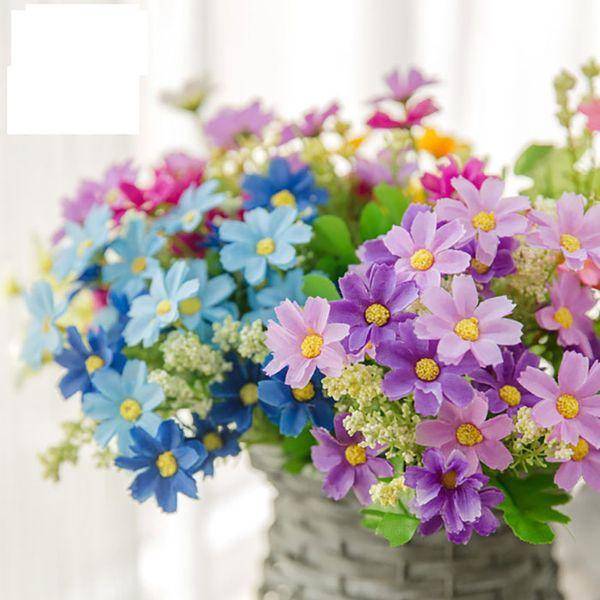 Künstliche Simulation Blumenschmuck Blumen Seidenblumen Gänseblümchen Big Jump Wild Daisy Dancing Orchid Flowersfor Wedding Home Decoration