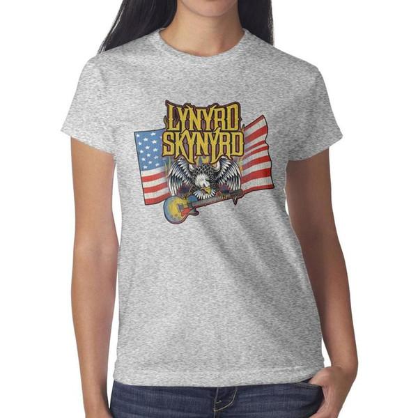 Lynyrd Skynyrd free bird American flag grey t shirt,shirts,t shirts,tee shirts shirt design funny designer band classic t shirt